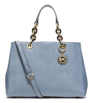 Cynthia Medium Leather Satchel @ Michael Kors