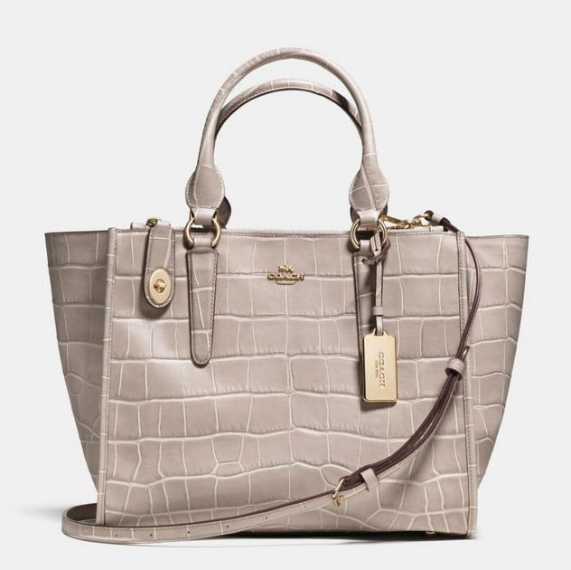 COACH Embossed Croc Crosby Carryall On Sale @ 6PM.com