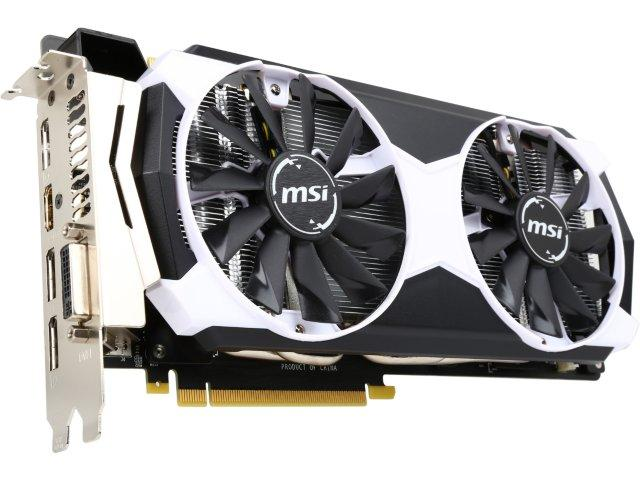 MSI GeForce GTX 980 Ti GTX 980Ti 6GD5T OC 6GB 384-Bit GDDR5 PCI Express 3.0 HDCP Ready SLI Support ATX Video Card