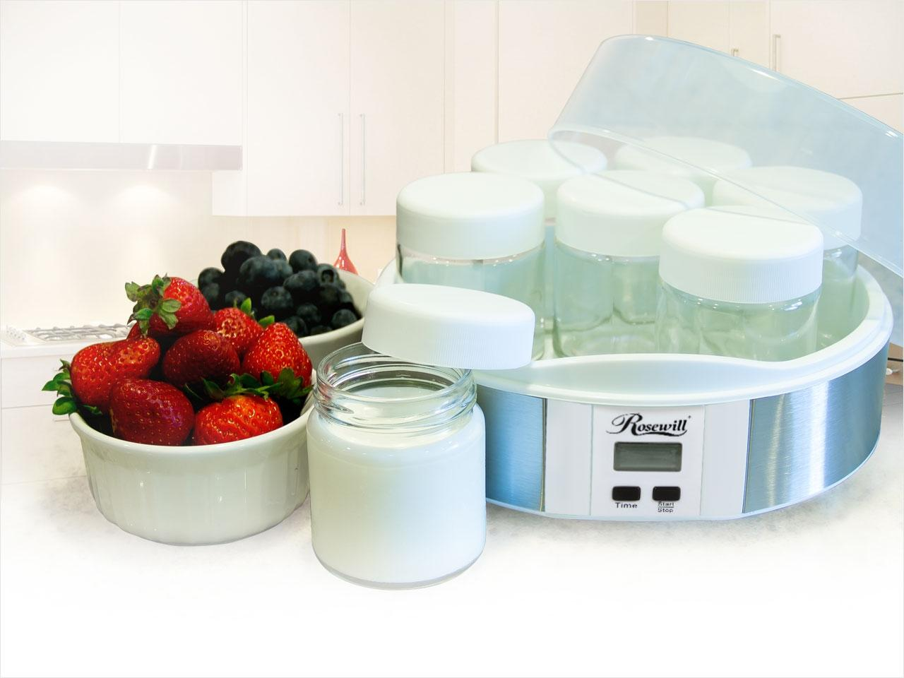 Rosewill RHYM-13001 7 Glass Cups Digital Yogurt Maker