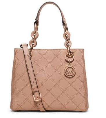 Cynthia Small Saffiano Leather Satchel @ Michael Kors