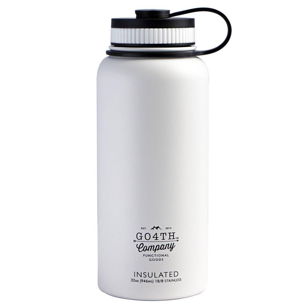 GO4TH True Vacuum Insulated Stainless Steel 32oz Wide Mouth Insulated Water Bottle