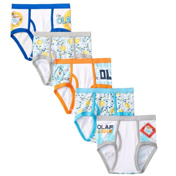 Disney Little Boys' Frozen Olaf 5-Pack Briefs
