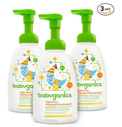 Babyganics Foaming Fun Shampoo and Body Wash, Orange Blossom, 16 Fluid Ounce (Pack of 3)