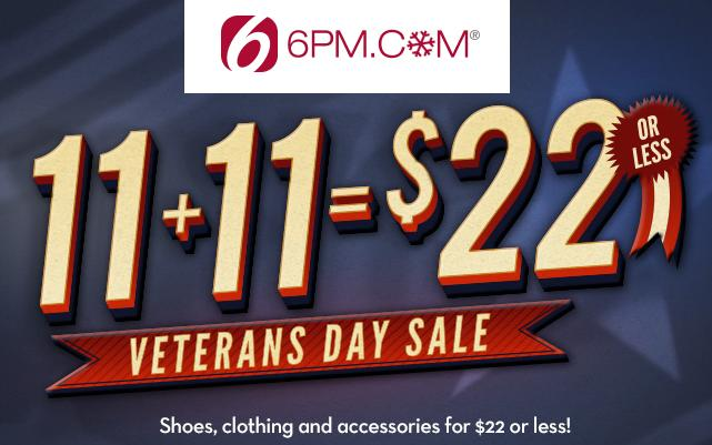 $22 Or Less + Extra 10% Off Select Shoes, Apparel, Accessories and More at 6PM