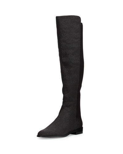 Mainstay Pindot Stretch Knee Boot, Black