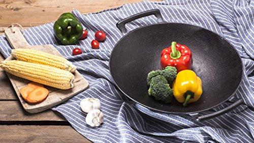 Cast Iron Shallow Concave Wok