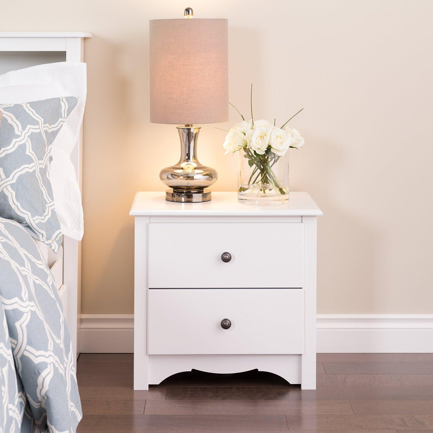 Prepac Monterey White 2-Drawer Night Stand