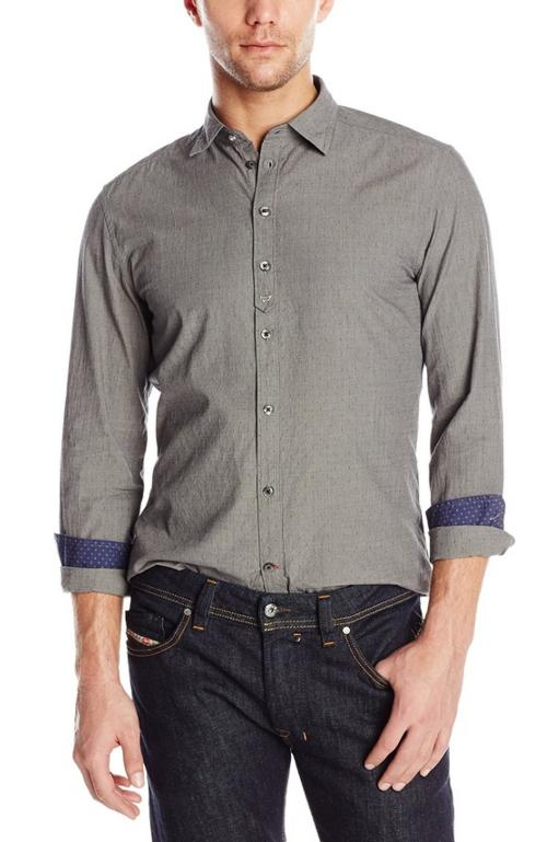 Diesel Men's S-Kinop-K Micro-Dot Button-Front Shirt