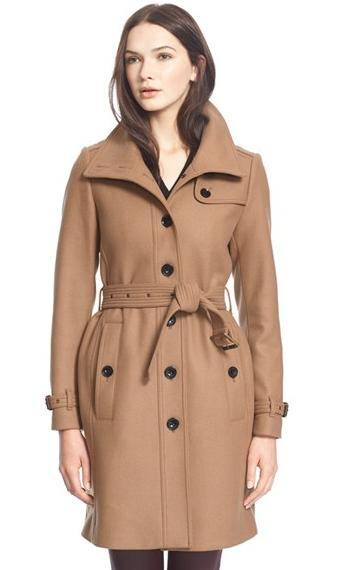 Burberry Brit 'Rushfield' Wool Blend Stand Collar Coat @ Nordstrom