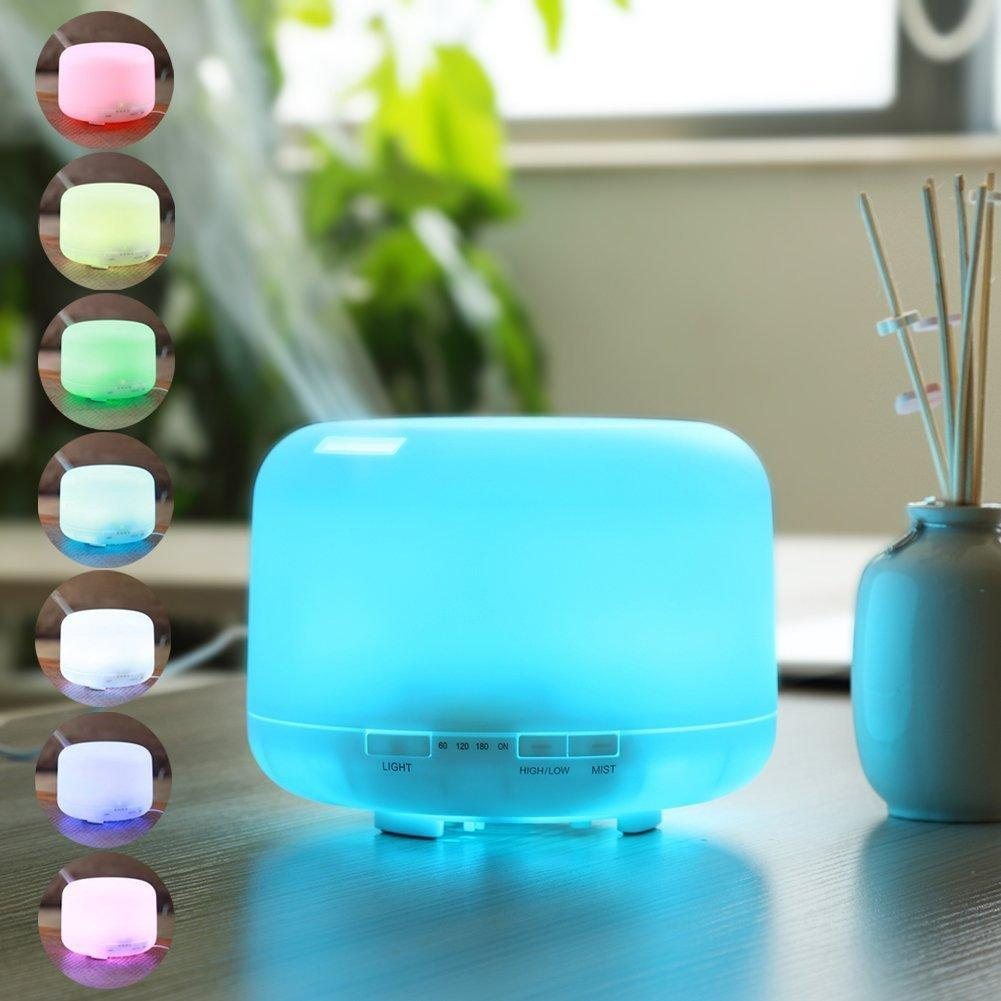 DuaFire Aromatherapy Essential Oil Diffuser Portable Ultrasonic Cool Mist Aroma Humidifier