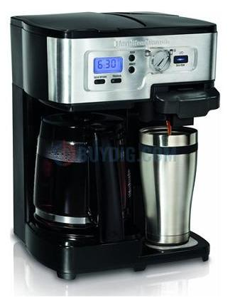 (Factory Refurbished)Hamilton Beach 2-Way FlexBrew Single Serve and 12-Cup Coffeemaker