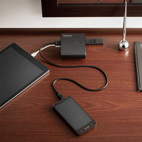 Panasonic QE-AL201K Award-Winning 2-in-1 Hybrid Mobile Charger & Travel Battery @ Panasonic