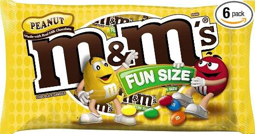 $10.22 M&M's Peanut Fun Size Chocolate Candy, 11.23 Ounce Bag (Pack of 6)