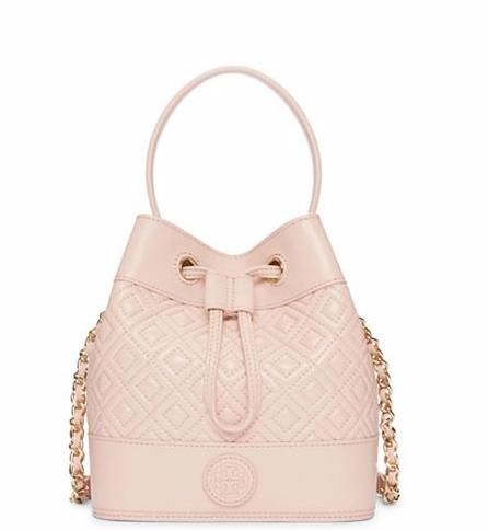 MARION QUILTED MINI BUCKET BAG @ Tory Burch
