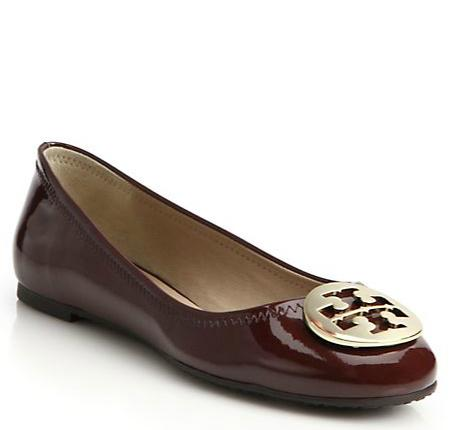 Tory Burch Reva Patent Leather Ballet Flats @ Saks Fifth Avenue