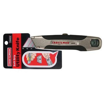 Craftsman 6.2-Inch Utility Knife with Soft Grip
