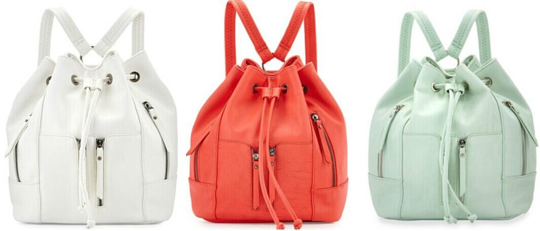 Neiman Marcus  Faux-Leather Drawstring Backpack @ LastCall by Neiman Marcus