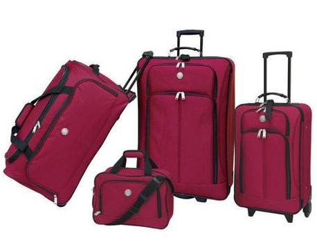 Travelers Club Euro Value II Deluxe 4 Piece Luggage Set