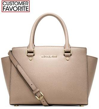 MICHAEL Michael Kors Selma Medium Satchel(3 colors)