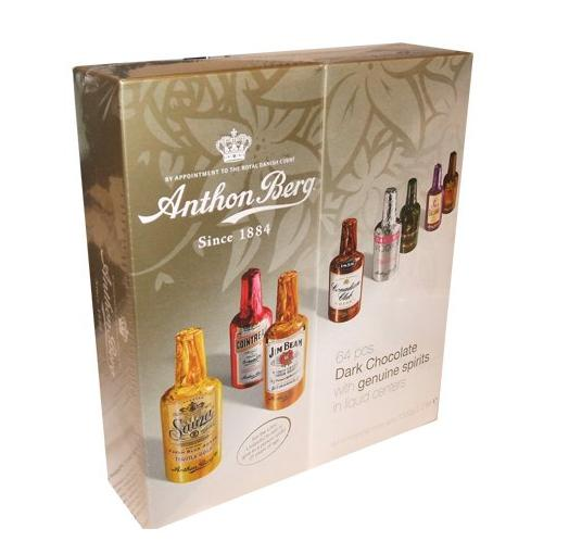 $25.49 Anthon Berg Dark Chocolate Liqueurs with Original Spirits - 64 pcs.