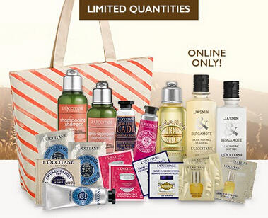 Free 20-pc Gift Set with Orders over $120 @ L'Occitane