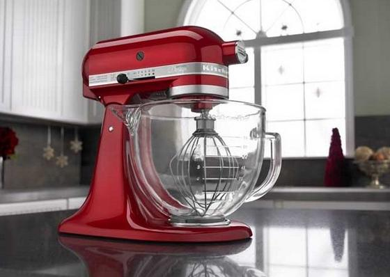 KitchenAid 5Qt Tilt-Head Stand Mixer with Glass Bowl