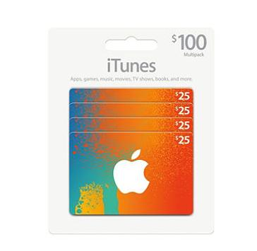 $79.47 $100 iTunes Gift Card Multipack, 4x$25  @ Sam's Club
