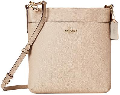 COACH Embossed Textured Leather North/South Swingpack On Sale @
