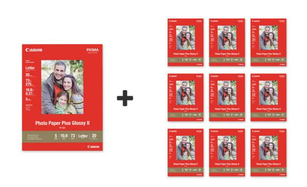 Buy 1 Get 9 Free+Free Shipping on Canon 4x6, 5x7, 8.5x11 Photo Paper @ Canon