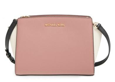 MICHAEL Michael Kors 'Selma - Medium' Saffiano Leather Messenger Bag @ Nordstrom