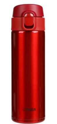 TIGER MMY-A048-RY Stainless Steel Bottle 16.2-Ounce Red