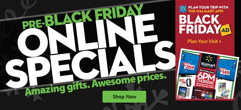 Pre-Black Friday Online Specials @ Walmart