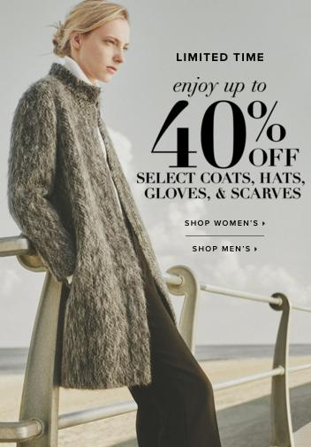 Up to 40% Off Select Coats, Hats, Gloves & Scarves @ Club Monaco