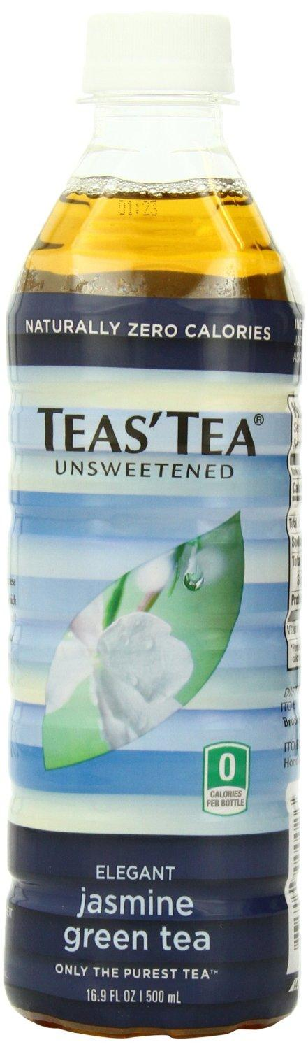 $7.53 Teas' Tea, Unsweetened Jasmine Green Tea, 16.9 Ounce (Pack of 12)