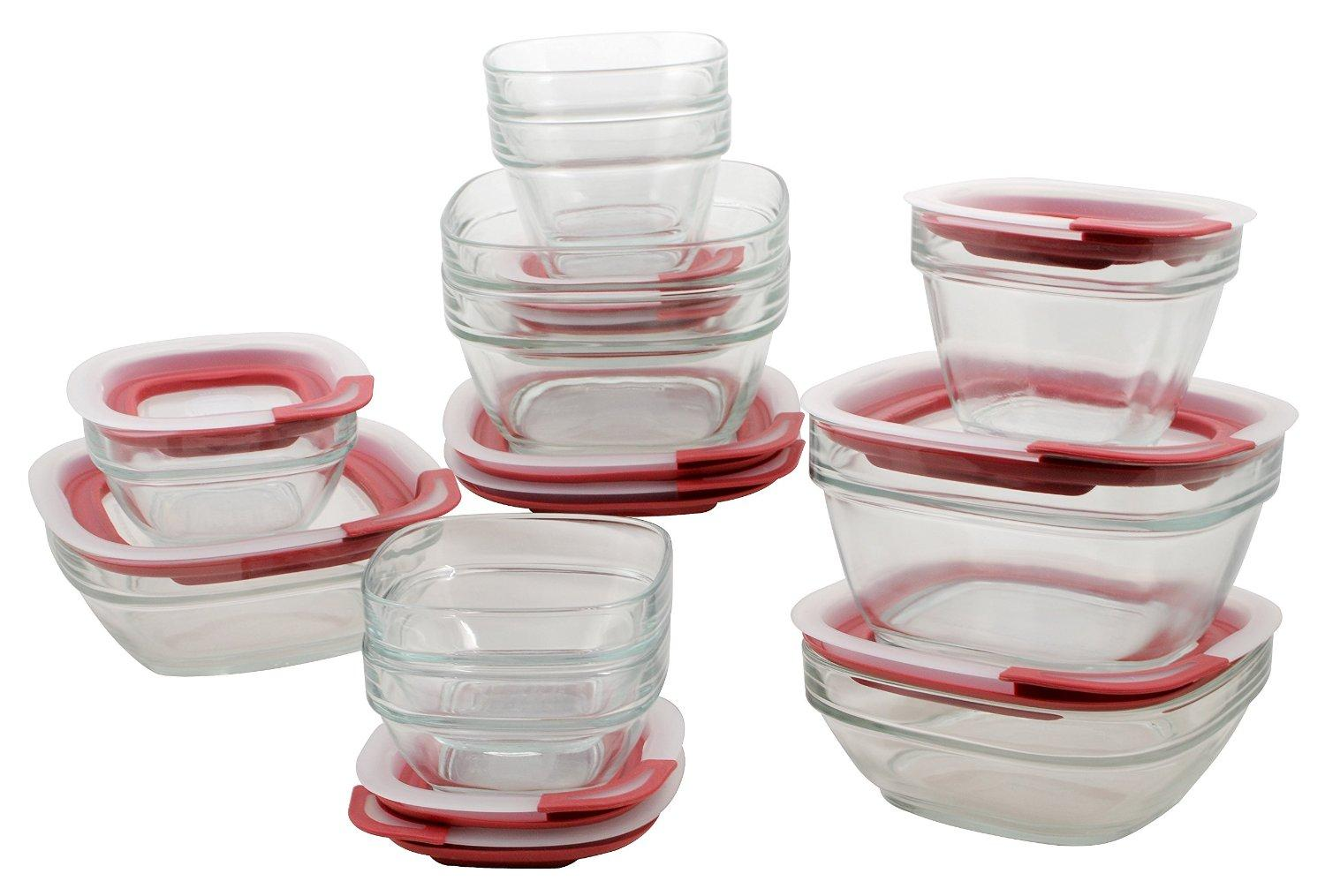$29.98 Rubbermaid Easy Find Lid Glass Food Storage Set, 22-piece