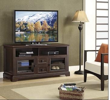 Whalen Furniture  TV Console for Flat-Panel TVs Up to 60