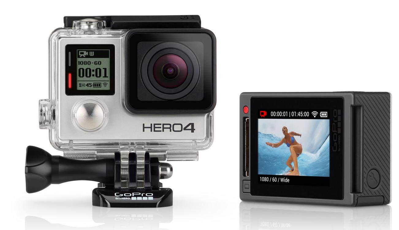 $299 GoPro HD HERO4 Silver Edition Action Camcorder CHDHY-401