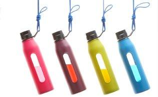 Takeya Classic Glass Water Bottle with Silicone Sleeve
