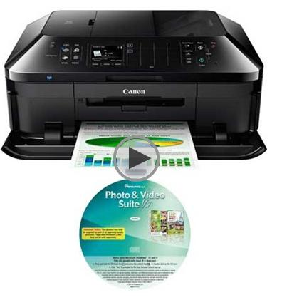 Canon PIXMA MX922 Wireless Inkjet Office All-In-One Printer + Paintshop Pro X7