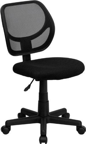 Flash Furniture Mid-Back Black Mesh Task and Computer Chair WA-3074-BK-GG