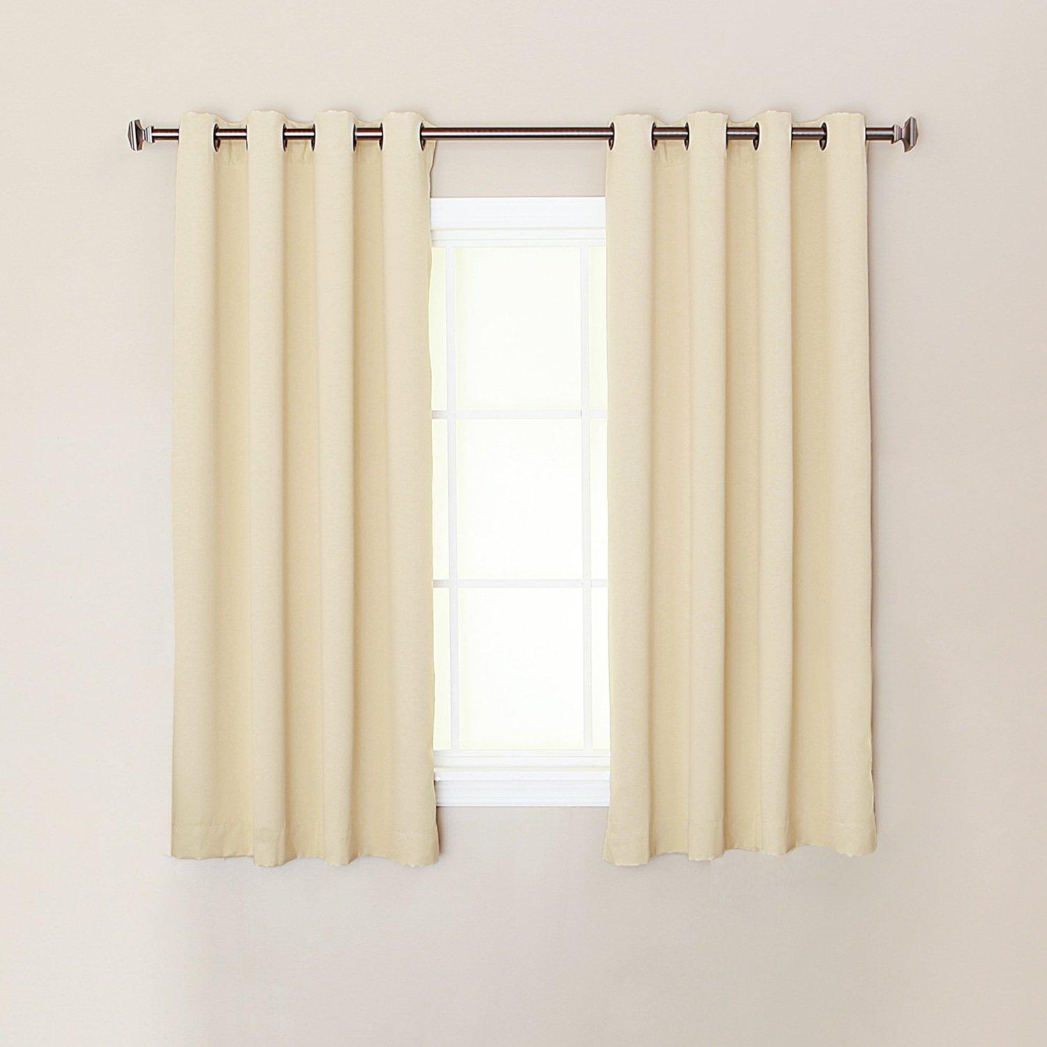 Best Home Fashion Thermal Insulated Blackout Curtains Antique Bronze Grommet Top Beige - 52