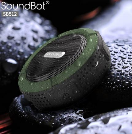 SoundBot®SB512 HD Premium Water & Shock Resistant Bluetooth Wireless Shower Speaker