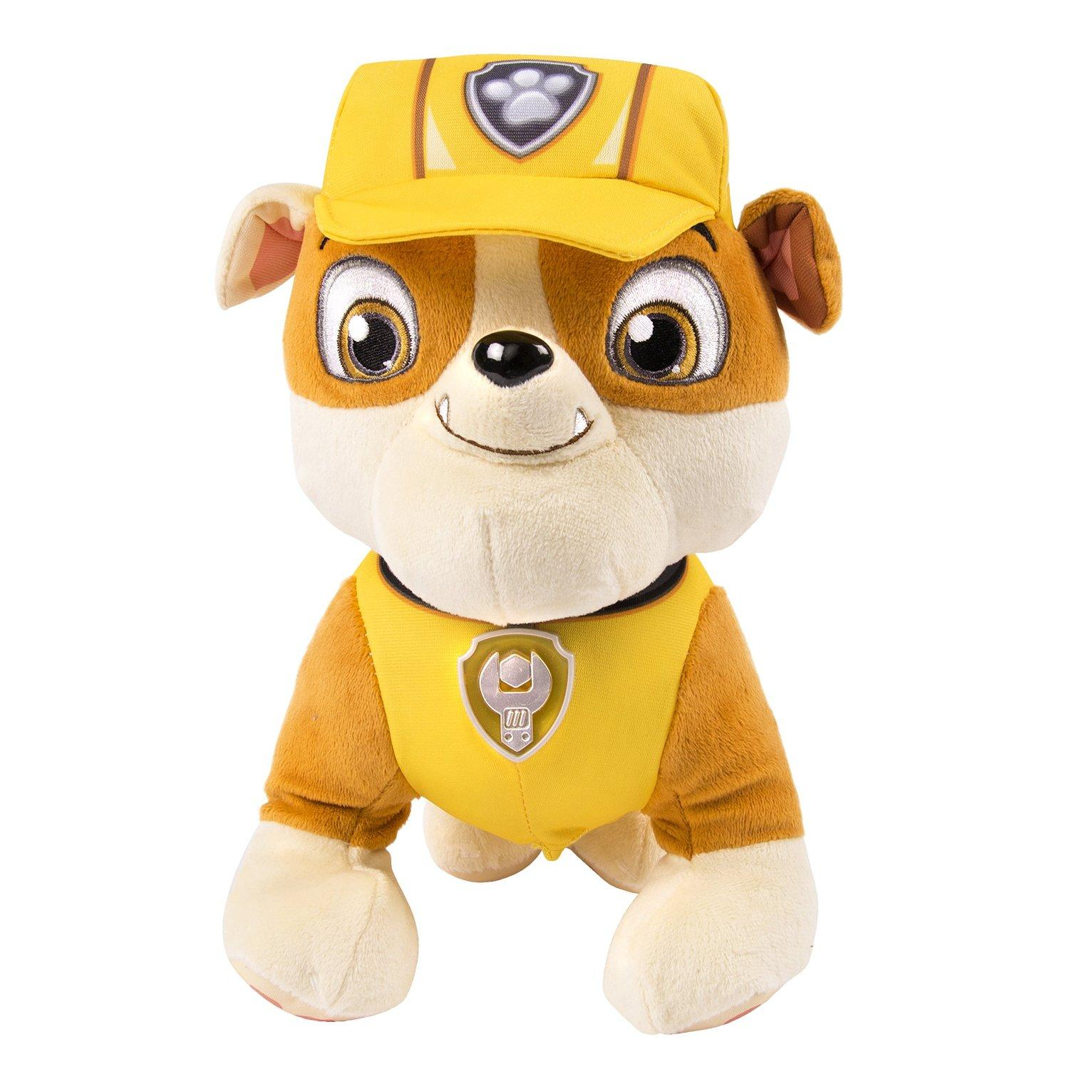 Paw Patrol Deluxe Lights and Sounds Plush, Rubble and Chase