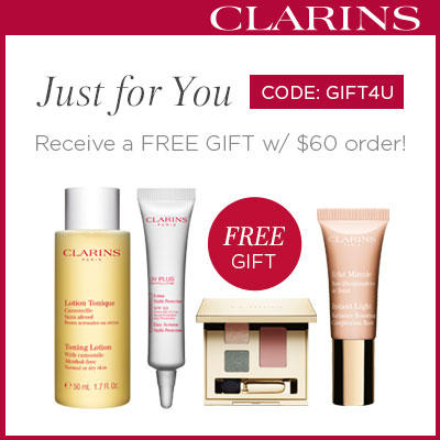 Free 4-piece Gift with Any Orders over $60 @ Clarins