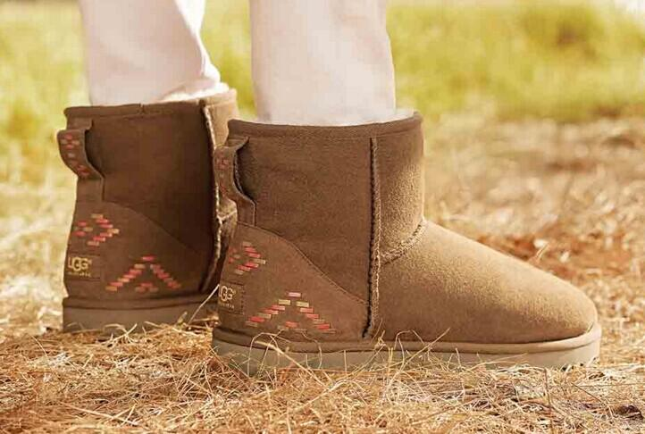 UGG Classic Mini Rustic Weave Boot @ Shoebuy.com