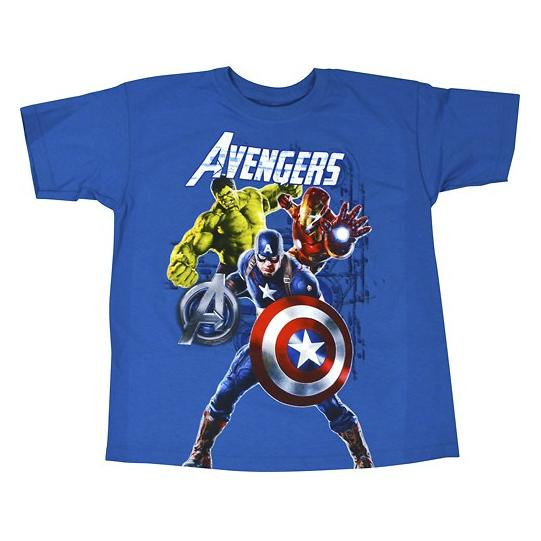 Marvel - Avengers Group Shot Children's T-Shirt (Small/Medium) - Turquoise