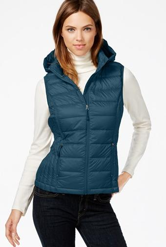 32 Degrees Hooded Packable Down Vest On Sale @ macys.com