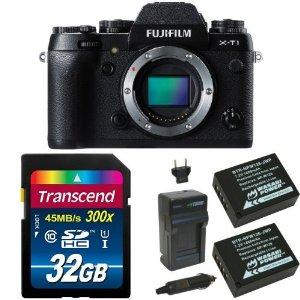 Fujifilm X-T1 16 MP Mirrorless Digital Camera with 3.0-Inch LCD (Body Only) (Weather Resistant) Deluxe Bundle