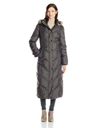$175.00 London Fog Women's Chevron Maxi Down Coat